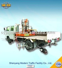Truck mounted cold paint road marking machine