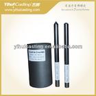 Isostatic graphite casting crucibles