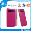 2014 new hot pink slim mobile smart powerbank 4000mAh for iphone5c, HTC,huawei,samsung