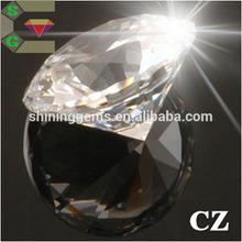 gleamed white colorless round cz loose gemstone korean cubic zirconia gem