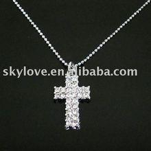 unique sideways cross necklace