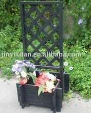Wood trellis & trough flower Shelf