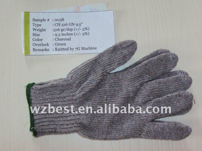 cotton gloves, Nature White, Bleached White, , Charcoal, 600GR/DOZEN