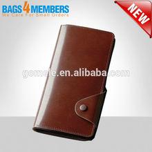 Hot sale! 2015 Genuine leather fashion designer Men wallets/brown long vintage wallet