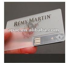 Full Clear Transparent Credit card usb flash drive usb card