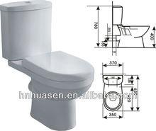 Bathroom Ceramic Sanitaryware Toilet HTT-1009D
