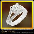 Señora big stone 925 joyería de plata esterlina diseño anillo de compromiso