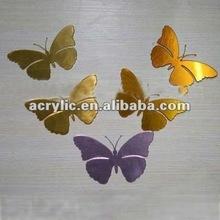2012 Acrylic butterfly shape Mirror sticker wall decoration