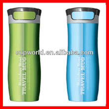 16oz stainless steel Thermo Mug, one touch lid