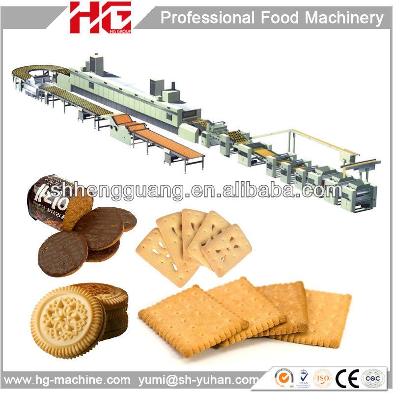 Fabriqué en chine vente chaude usine prix ligne de production de biscuit oreo/automatique ligne de production de biscuit/rigide, biscuit ligne de production