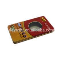 2014 New design christmas favors apple mobile phone rectangular tin box for packing battery
