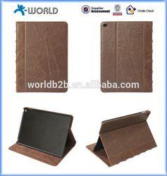 Retro Vintage Book Design PU Leather Case for iPad 6 Air 2