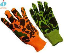 Safety equipment cotton canvas half finger fighting gloves