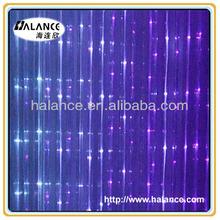 side glow sparkle fiber optic led waterfall curtain light