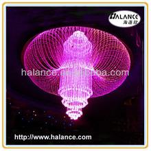for hotel decorative crystal fiber optics pendant light