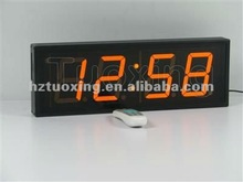 4 inch 4 digit wall mounted led digital clock