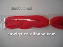 synthetic hair jumbo braid yaki pony/synthetic hair Jumbo braid/Yaki Jumbo braid