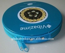 CD box with zipper tin box tin case DVD holder CD case