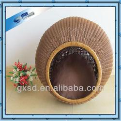 cool PE rattan basket for pet cat bed dog bed pet bed