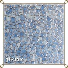 TONIA 30x30 Blue Brick Tile Design Golden Glazed Ceramic Tile