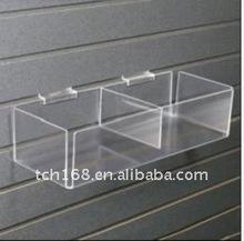 slat wall mounted acrylic storage box