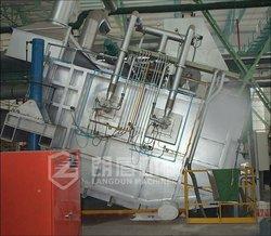 Tilting aluminum holding furnace