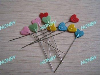 Heart Shape Flat Head Pin