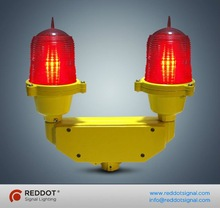 LED Based double aviation obstruction light for telecom tower obstacle/twin obstacle light for aircraft warning
