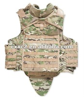 Full body armor/bulletproof vest with groin protector