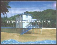 Light steel prefabricated house beach house
