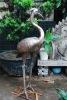 outdoor bronze sculpture garden bird sculpture life-size animal sculpture