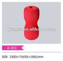 Sponge grip cover for gym equipment