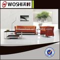 alta qualidade novo e moderno estilo de laranja sofá conjunto