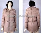 Unique design women winter warm long coat/jacket with 2 layer collar