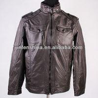 Long Pu Leather Lapel Jacket