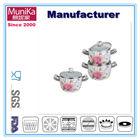 porcelain enamel cookware sets with glass lid/ enamel cookware sets with glass lid / 2014 popular enamelware cookware set