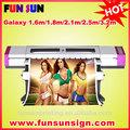 Galaxy 1. 6m/1. 8m/2. 1m/2.5m/3. 2m barato eco impressora solvente( dx5 cabeça, 1440 dpi, o preço promocional agora)