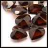 Machine Cut And Polishing Heart Shape Coffee Gem Stone