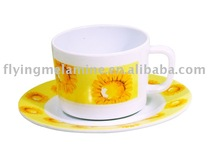 9.5OZ MELAMINE COFFEE CUP AND SAUCER