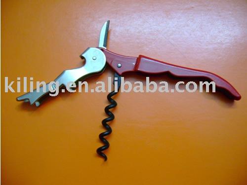stainless steel corkscrew wine opener