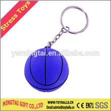 PU Keychain Basketball/Keyring Stress Ball