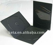 7MM Double Black Plastic DVD Case