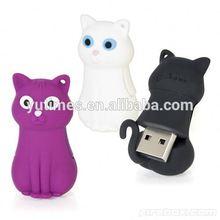 Free sample low price wholesale cute cat shape usb flash drives