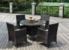 5 pcs Garden Furniture with tempered glass HB21.9130