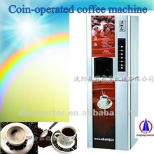 Automatic coin-operated hot and cold coffee machine