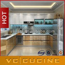 Foshan modern high gloss kitchen paint colours