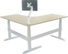 L-shaped corner height adjustable desk legs