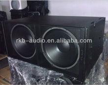 "PG-218/ 2000W dual 18"" subwoofer speaker box"