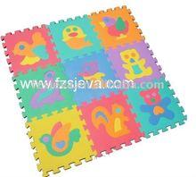 Animals plastic puzzle, Non-toxic EVA foam puzzle play mat with animals