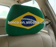 Football Fans Brazil flag logo Polyester Car seat cover